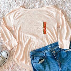 ✨ NWT Peach 3/4 Sleeve Top
